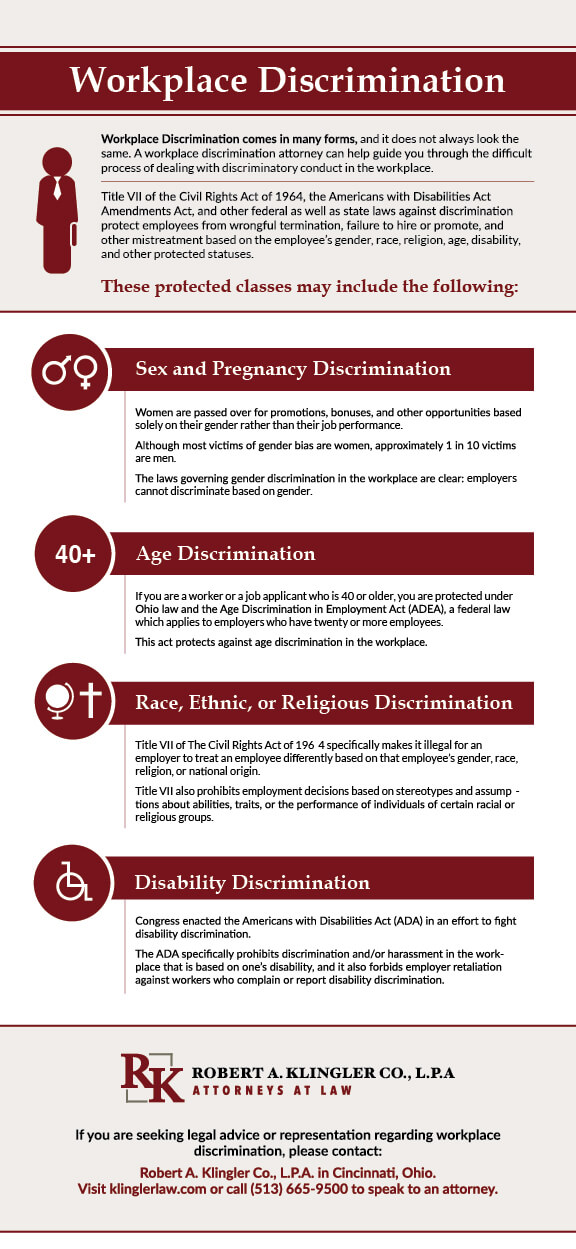 Cincinnati Ohio Workplace Discrimination Lawyer